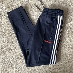 Men's Adidas Navy and Red Pants